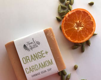 Orange+Cardamom Handmade Vegan Soap