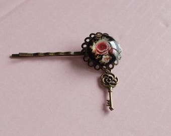 "Bar print vintage ""tea roses Key"""