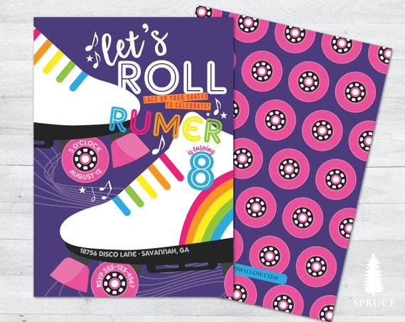 like this item - Roller Skating Birthday Party Invitations