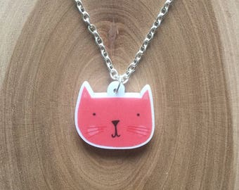 Red Kittie necklace <3
