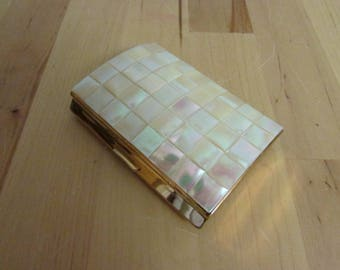 1950s Melissa mother of pearl & gold-tone cigarette case
