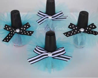 Breakfast at Tiffany's Inspired Nail Polish Tutus - Breakfast at Tiffany's Inspired Favor