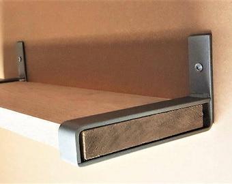"9"" Light Belt Bracket. Hand Forged Metal. Industrial Shelf Bracket**"