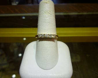 X17 Vintage 14K Yellow Gold with 1/2 Carat Total Diamonds Ring, Size 9.