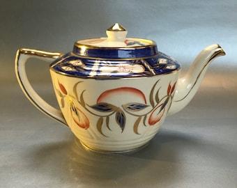 Vintage Mid Century Arthur Wood Cobalt English Teapot Medium Size 4-5 Cup
