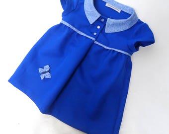 Royal blue 4-5 years girl tunic dress