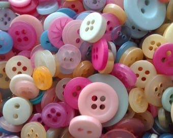 Pastel Buttons - Various colours and shapes - Perfect for many craft projects