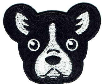 French Bulldog Iron On Patch Embroidered Applique