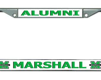 Marshall University Alumni Chrome License Plate Frame