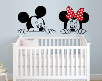 Mickey And Minnie, Wall Sticker, Kids Room, Interior Sticker, Window Sticker ,