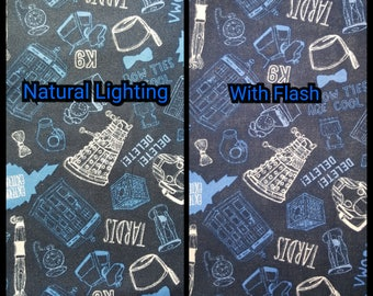 Drawstring & Zipper Bags - Glow in the Dark Doctor Who Symbols/Icons Mix