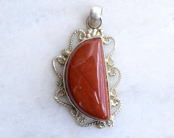 Red Jasper Pendant, Red Jasper Pendant, Silver Pendant, Red  Jasper Necklace Pendant, Jasper Locket, Jasper Pendant, Jasper Stone Pendant