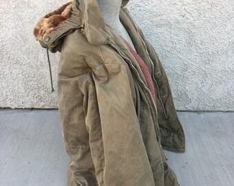 vintage army field coat jacket TALON zip