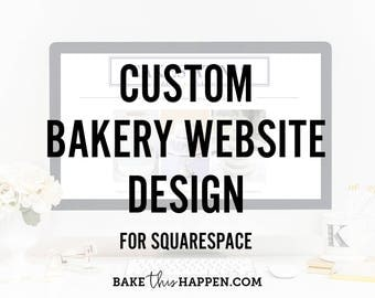 Custom Bakery Website Design for Squarespace