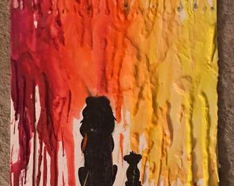 Crayon Melt Canvas
