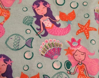 Mermaid Baby Blanket, Baby Blanket, Mermaid Blanket, Stroller Blanket, Nursing Blanket, Toddler Blanket, Girl Blanket, Minky Blanket