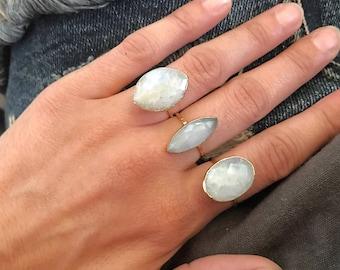 Moonstone Gold Ring // Moon stone ring // Moonstone Ring