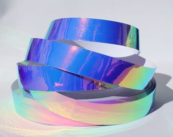 "1"" Lunar Liquid Translucent Color Morph JAMtape - Hula Hoop Tape - Fish Lure Tape - Decorative Craft Tape - 50, 100, 150ft Rolls"
