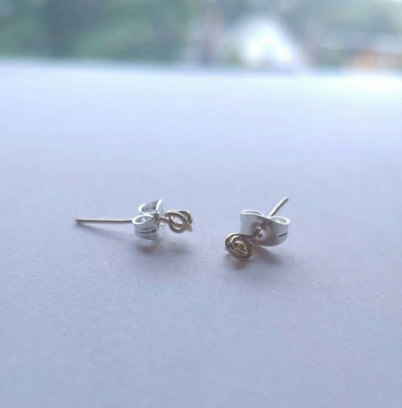 Gold Filled or Sterling Silver Knot Earrings