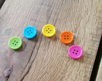 Button fridge magnets, organiser magnets, back to school