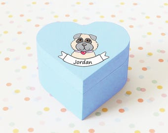 Personalised Hand Painted Puppy Box/wooden box/make up box/jewellery box/cute gift/pet lovers