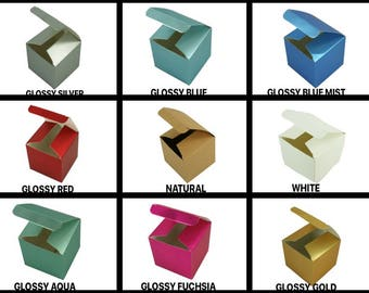 """Fold-up Favor Gift boxes 3"""" x 3"""" x 3"""" Cube"""