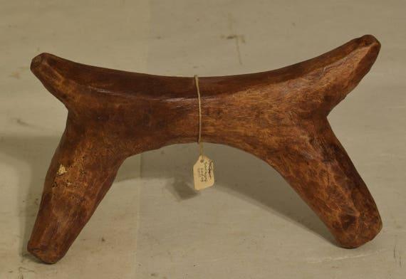 African Headrest Samburu Carved Wood Handmade Headrest Africa Pillow Men Sleep Tribal Travel Head Rest