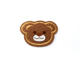 Applique badge patch Thermo bear head