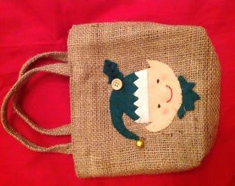 Handmade Christmas gift bags