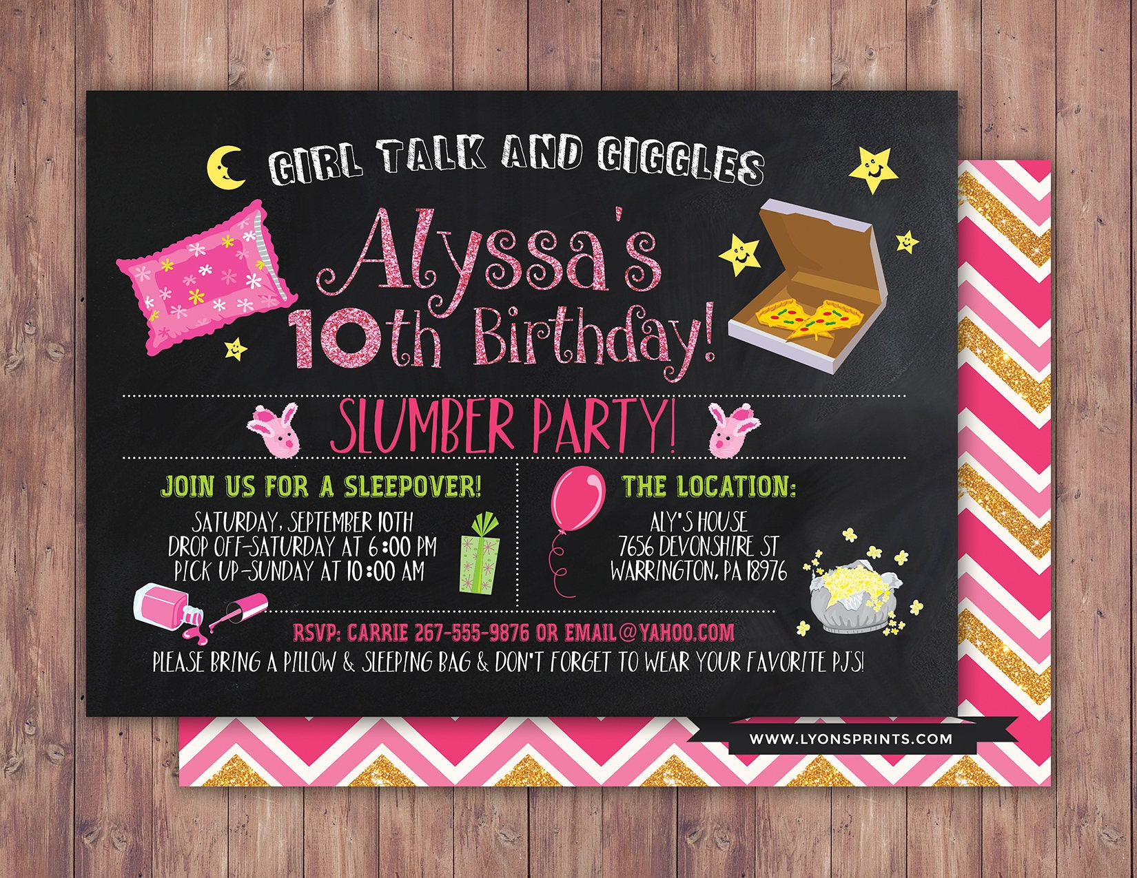 slumber party invitation girls slumber party invitations
