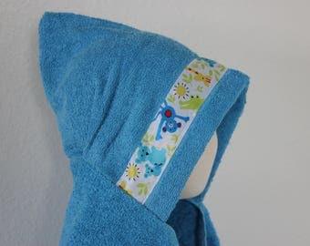Animal Hooded Towel, Blue - For babies, toddlers, preschoolers and beyond!