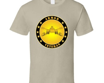 Army - Armor Veteran - T-shirt