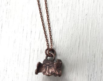 Tooth and Nail- Found Cat vertebrae in copper necklace