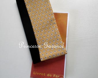 Family book cover - Cotton mustard saki - in stock