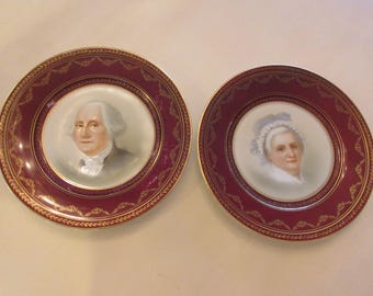 TATLER GEORGE and MARTHA Washington Plates