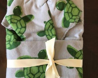 Turtle Oversize Swaddle Blanket and Burp Cloth Set