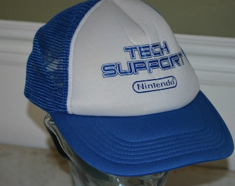 Retro Nintendo Tech Support Snapback Baseball Cap Hat (One Size Fits All)