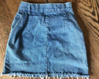 Upcyled Vintage Candies Denim Skirt Size 7/8