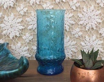 Turquoise mid century vase