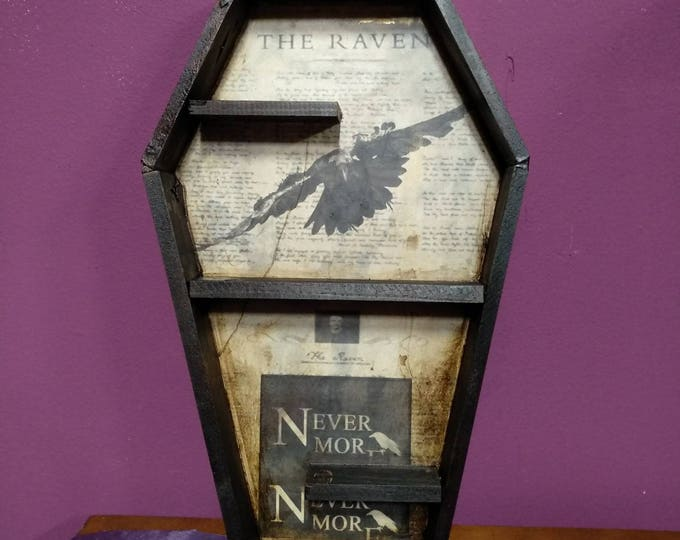 Featured listing image: Coffin Shelving: The Raven