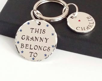 Grandma Gift Personalised, Personalised Nanny Keyring, Personalised Nana Gift, Personalised Keyring, Personalised Keychain, Gifts for Nan