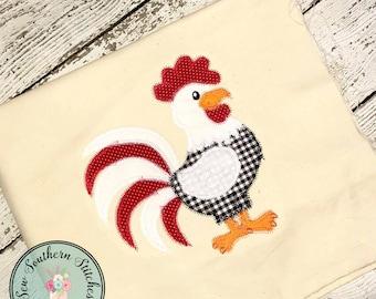 Zig Zag Rooster Applique Design ~ Barnyard Rooster ~ Instant Download