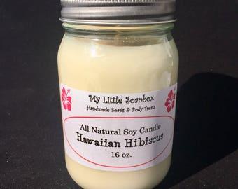 Hawaiian Hibiscus Natural Soy Candle