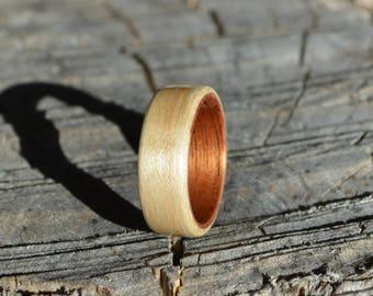 bentwood ring | wood ring | wood band | wood wedding band | maple ring