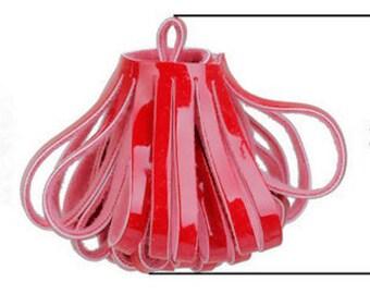 Tassels - Decorative Tassels - 5 Red Tassels - No Cap Looped Tassels - Great Tassels For Jewelry, Purse Tassel, Key Chain Tassel - TD-0007