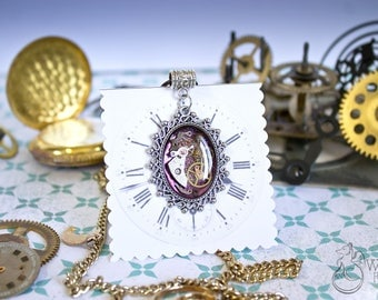 Steampunk Pendant - Necklace Jewelry Gift - Womens Steampunk