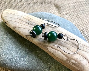 EMF Earrings w/Shungite & Therapy-Grade Green Aventurine