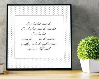 He loves me... Printable picture