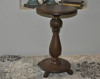 Small Vintage Mahogany/Oak Accent Table
