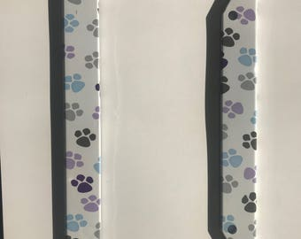 Paw Print License Plate cover